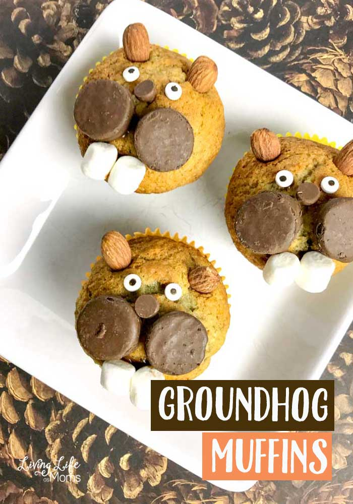 Cute Groundhog Banana Muffins
