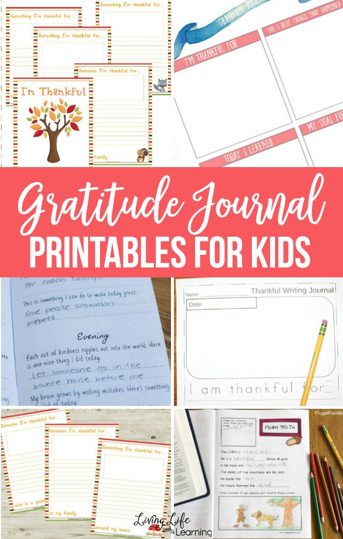 Gratitude Journal Printables for Kids