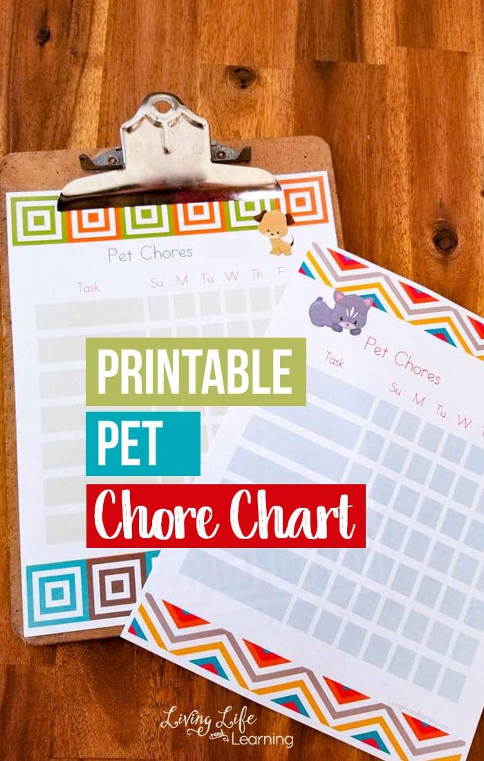Printable Pet Chore Chart
