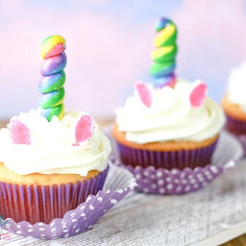 Simple Unicorn Cupcakes