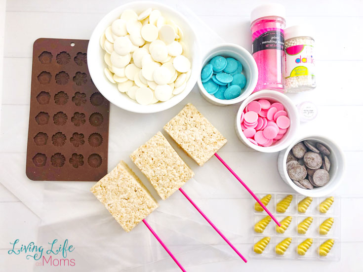unicorn rice crispy treats supplies
