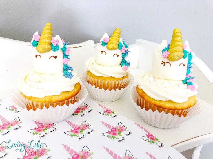 unicorn marshmallow cupcakes
