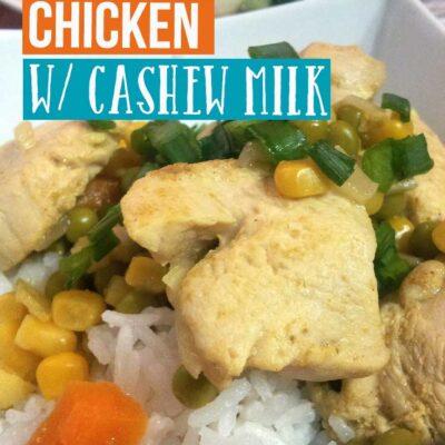 Chicken Curry with Cashew Milk Recipe