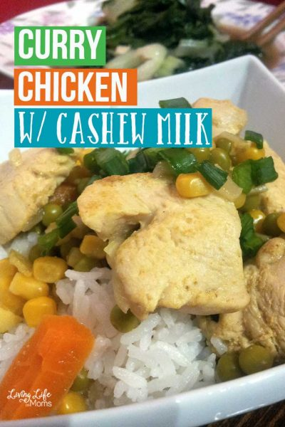 A yummy twist, instead of coconut milk, this Chicken curry recipe with cashew milk is still delicious and a huge hit in our family.