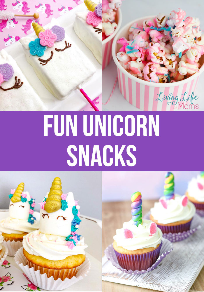 Fun unicorn snacks to make at home for a party and any celebration - bring some unicorn magic into your day today with these delicious unicorn desserts.