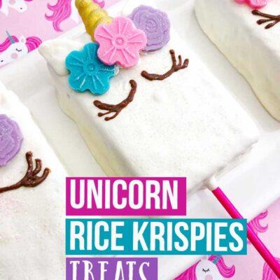 Unicorn Rice Krispies Treats