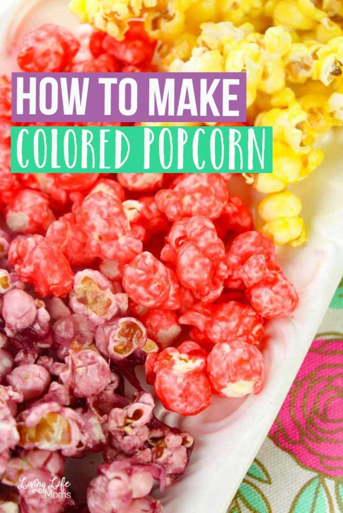 how to make colored popcorn