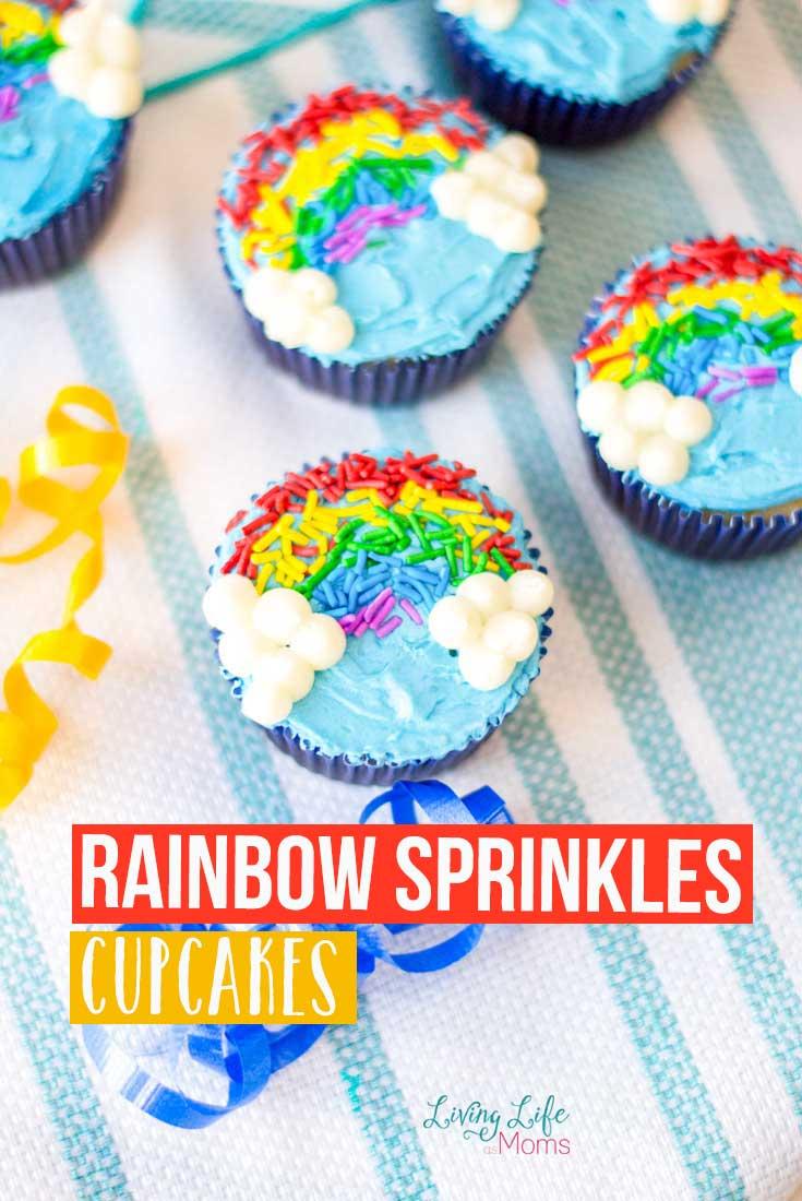 Rainbow Sprinkles Cupcakes