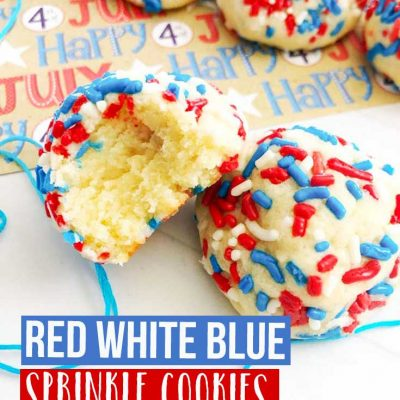 Red White Blue Sprinkle Cookies