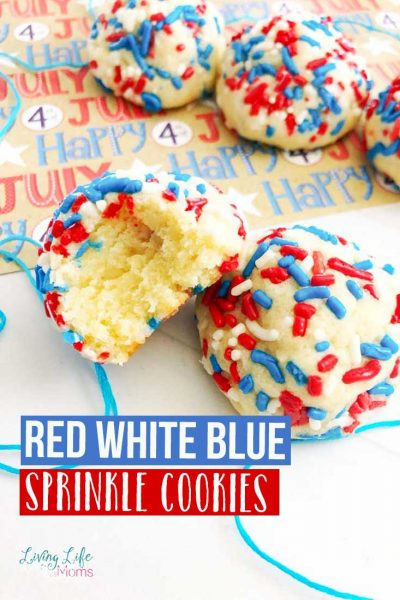 delicious red white blue sprinkle cookies
