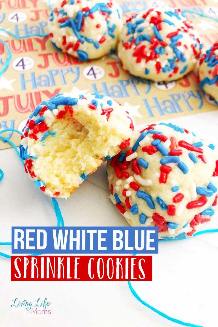 Red White Blue Sprinkle Cookies