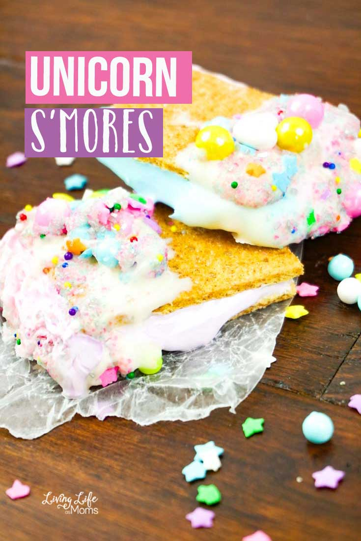 These Unicorn S'mores are certain to be a hit. Super simple and easy, there is no campfire needed! Just grab the few ingredients and get ready to have a delicious dessert hit on your hands!
