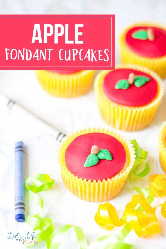 apple fondant cupcakes