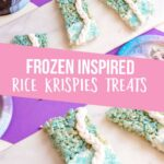 These Frozen Rice Krispies Treats are so much fun to make! Get excited about the upcoming Frozen movie release with these simple treats! And if you can't wait, they are excellent for a birthday party or just a fun night at home. With minimal ingredients and easy steps, this is one dessert recipe that you're going to love! #frozen #ricekrispietreats #letitgo #fondant #dessert