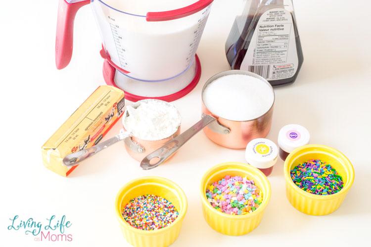 Unicorn pudding supplies