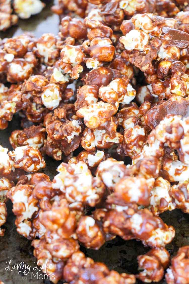 Delicous nutella popcorn