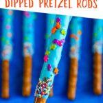 Ocean Themed Dipped Pretzel Rods