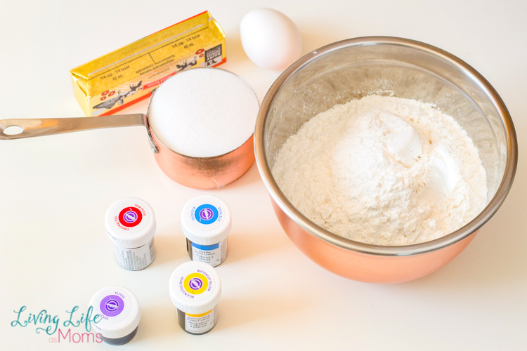 ingredients needed for unicorn cookies