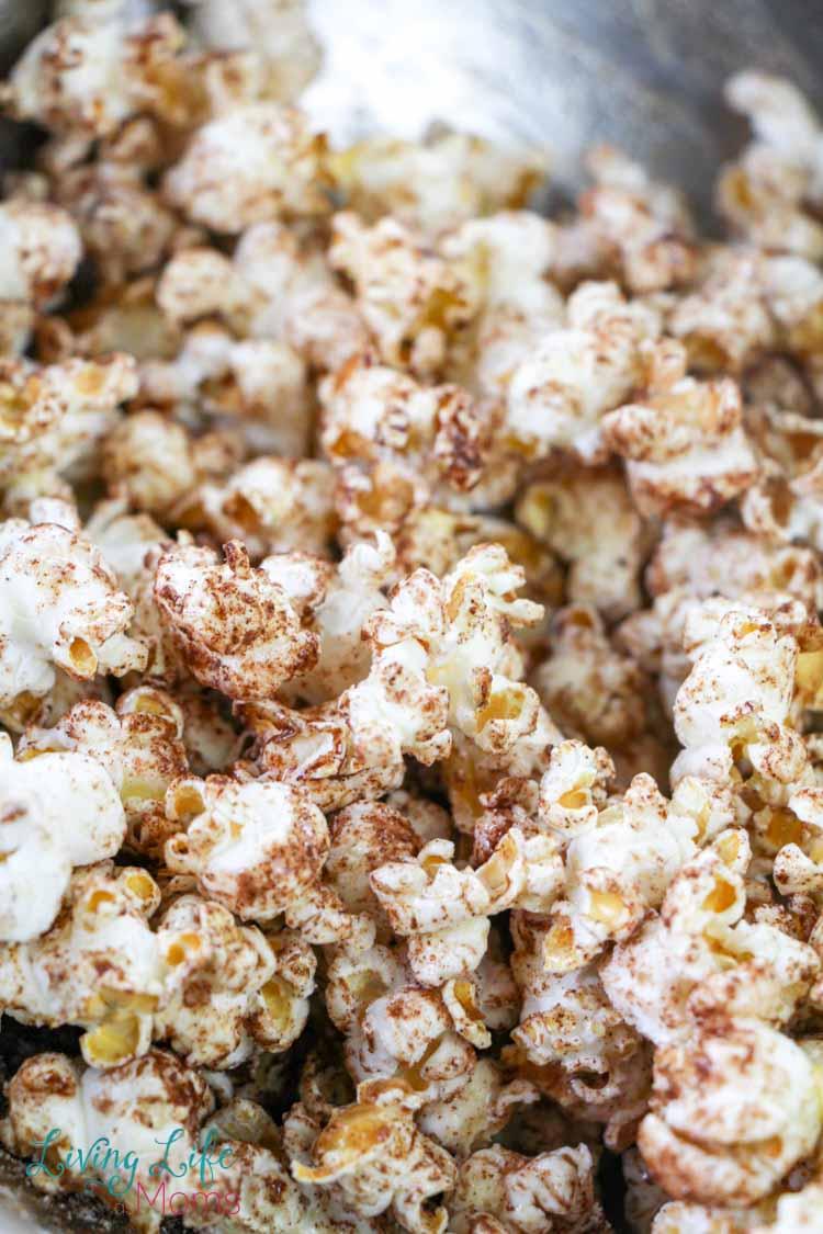 apple cinnamon seasoning on popcorn