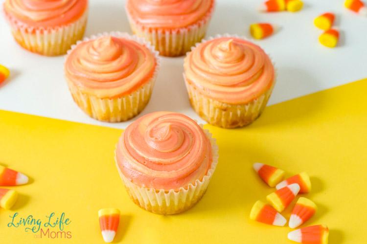 Simple Candy Corn Cupcakes Recipe