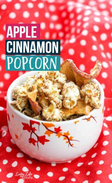 Delicious apple cinnamon popcorn