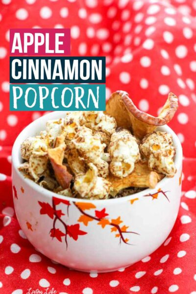 Delicious apple cinnamon popcorn