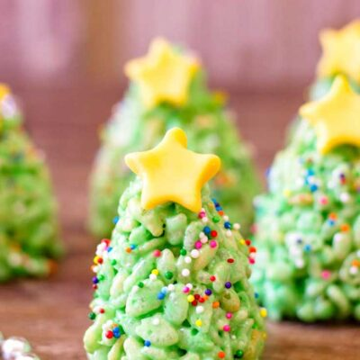 Christmas Tree Rice Krispies Treats