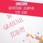 Unicorn Gratitude Journal for Kids Printable