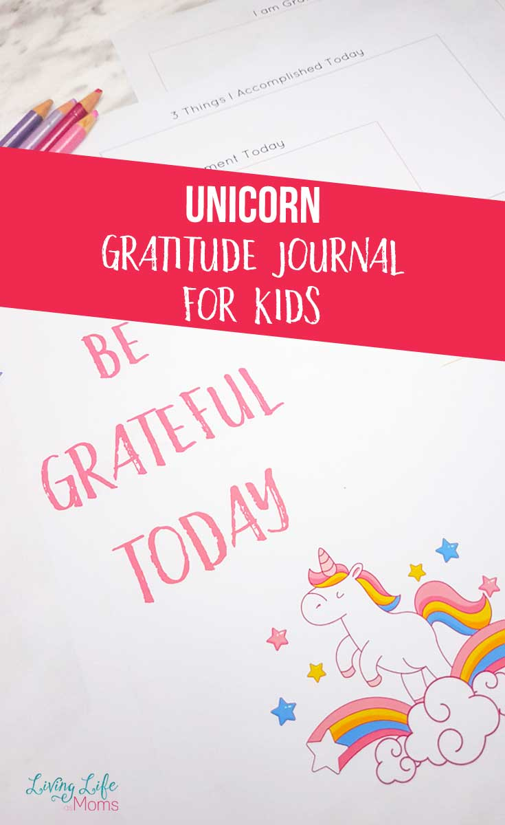 Unicorn Gratitude Journal for Kids Printable