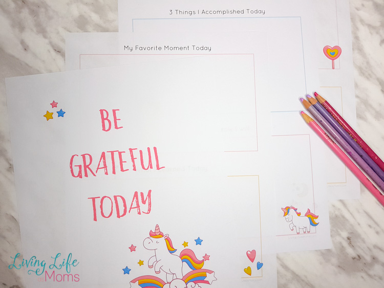 Unicorn Gratitude Journal for Kids