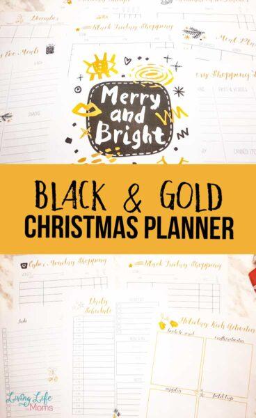 Black and Gold Printable Christmas Planner