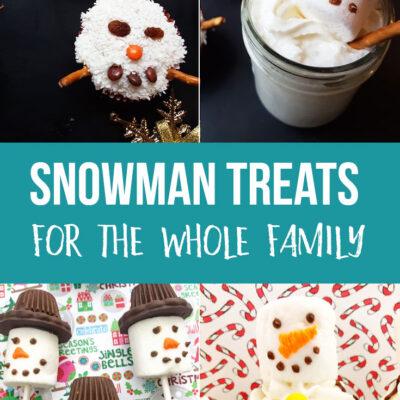 Cute Snowman Treats for the Family