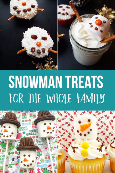 Cute Snowman Treats for the Whole Family