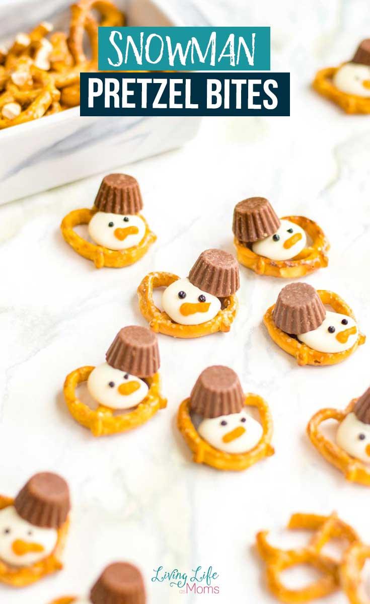 Snowman Pretzel Bites