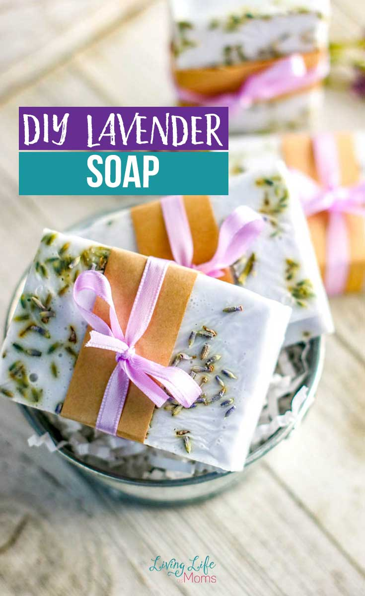 DIY Lavender soap with shea butter