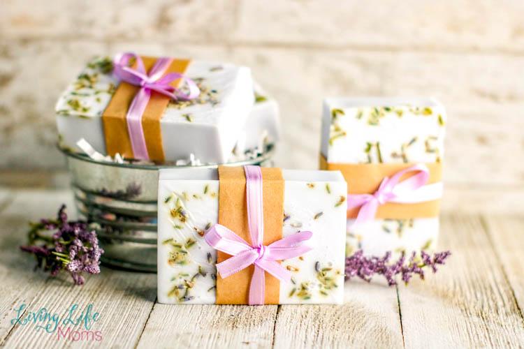 Beautiful shea butter lavender soap