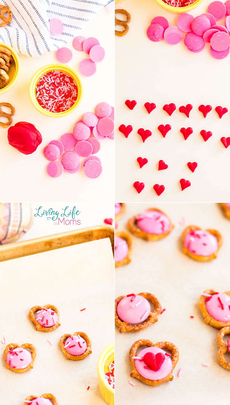 How to make heart pretzel bites tutorial