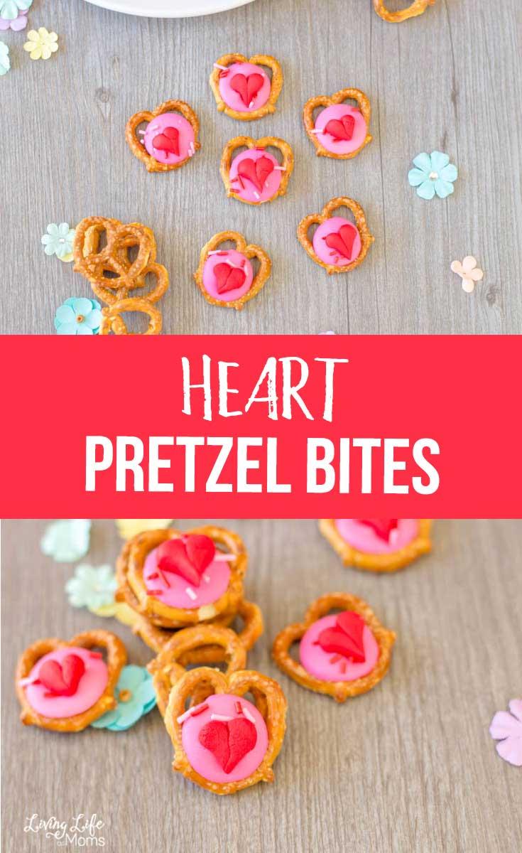 Easy Heart Pretzel Bites