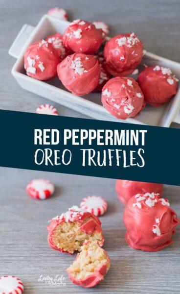 Red Peppermint Oreo Truffles Recipe