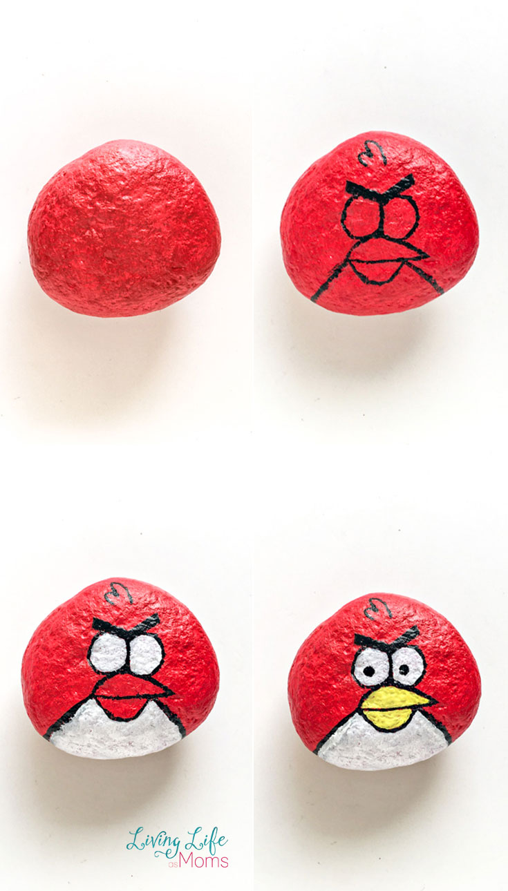 How to paint angry birds painted rocks terrance