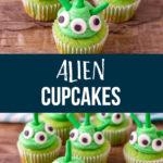 Wacky Alien Cupcakes