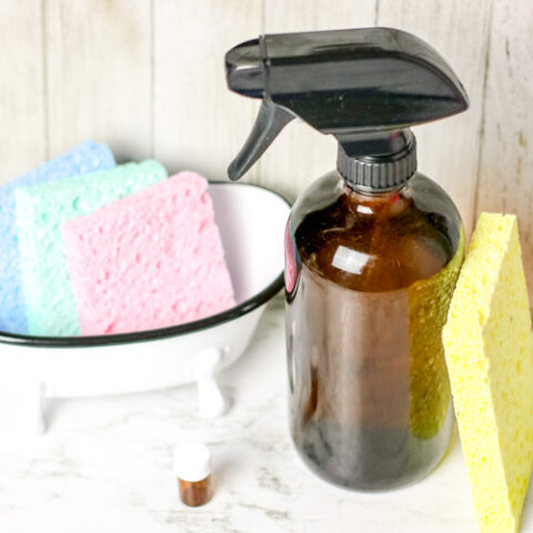 This DIY Disinfectant Spray with Alcohol is a simple disinfectant spray that you can easily make at home! Just three supplies needed!