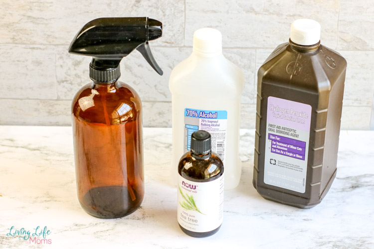 DIY Disinfectant Spray with Alcohol supplies