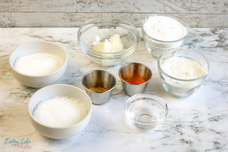 ingredients for Homemade Orange Vanilla Bath Bomb Recipe