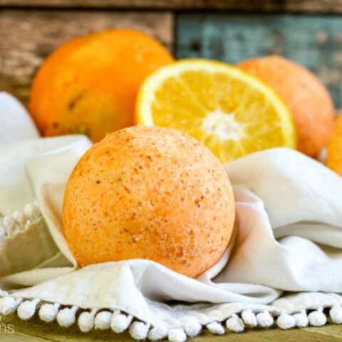 Homemade Orange Vanilla Bath Bomb Recipe