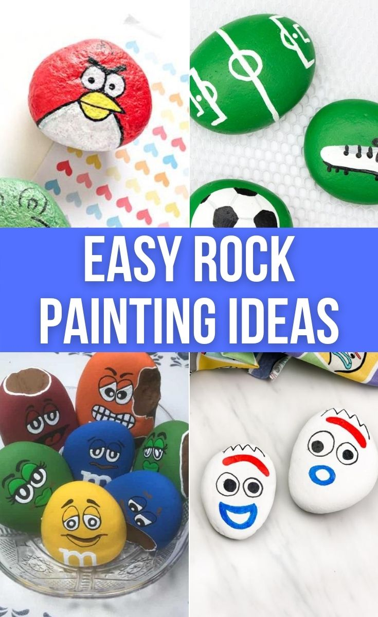 Easy painted rocks ideas for beginners