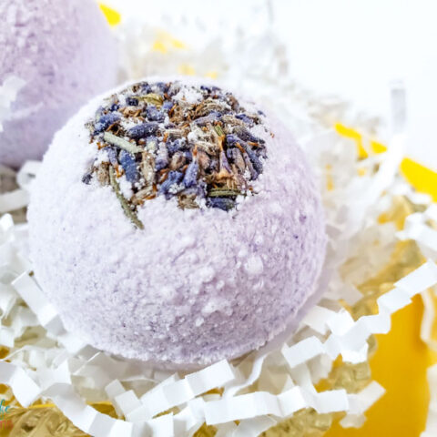 Homemade Lavender and Eucalyptus Bath Bomb Recipe