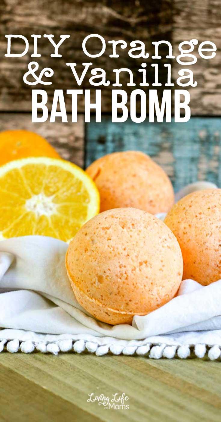 Homemade Orange Vanilla Bath Bomb Recipe