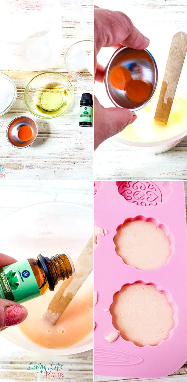 Homemade Mint Orange Sugar Scrub Bars supplies