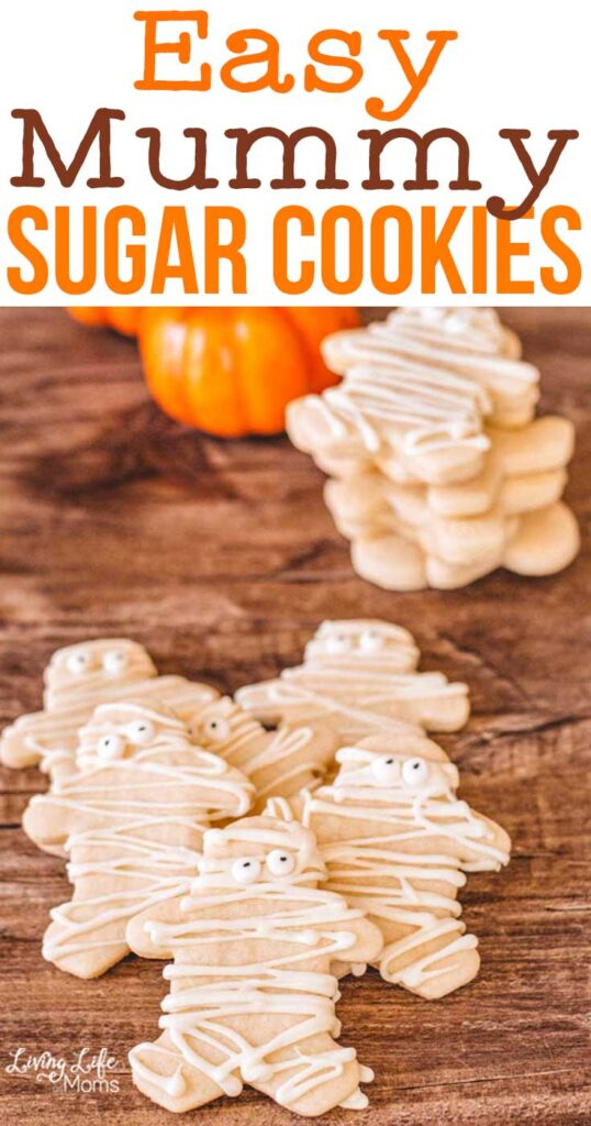 halloween mummy sugar cookies